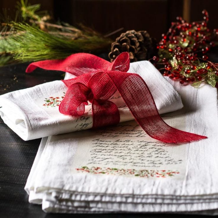 Handwritten Family Recipe Tea Towel