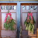 Easy Front Door Swag for the Holidays