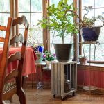rolling-crate-plant-stand-dining-room