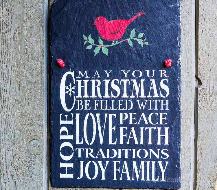 Christmas With Stencils: Warm Wishes on Slate