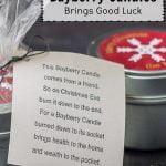 Bayberry poem for candle tin holiday gift.