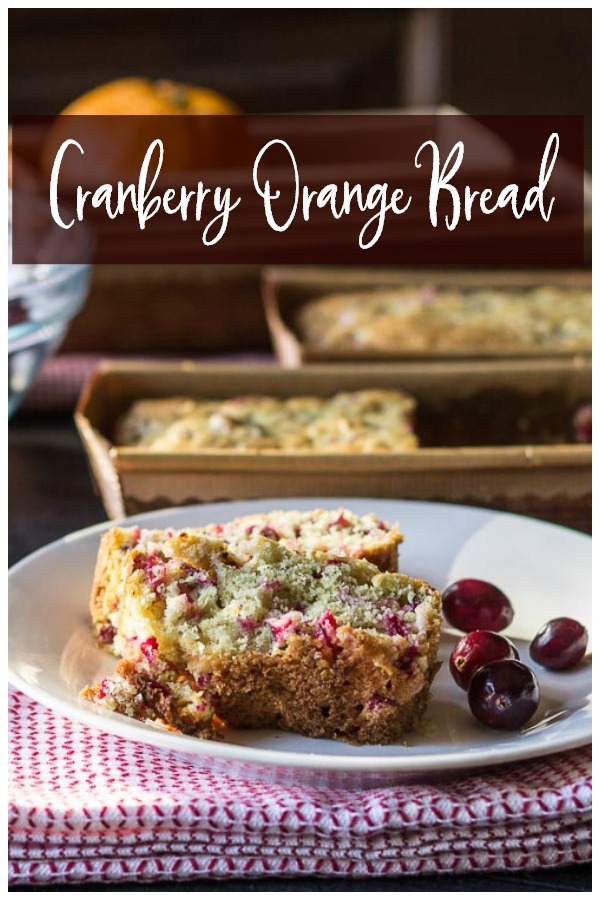Cranberry orange bread on plate