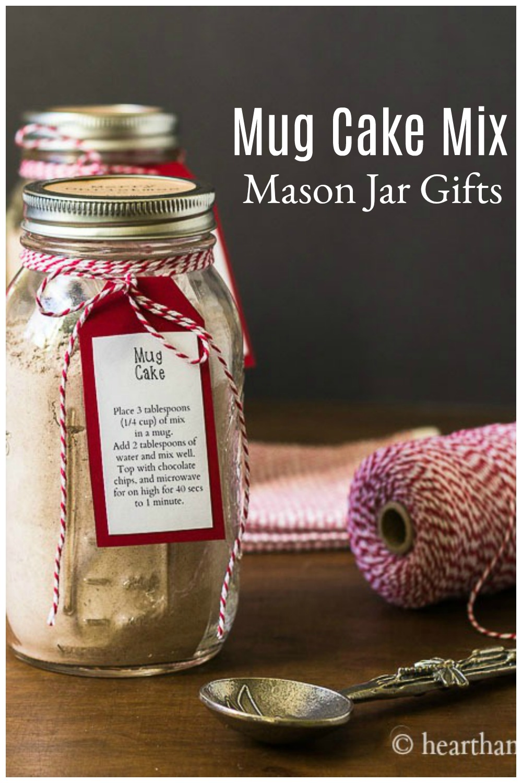 Mason jar with mug mix and label