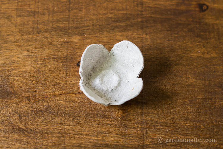 Egg Carton Flower with rounded edges