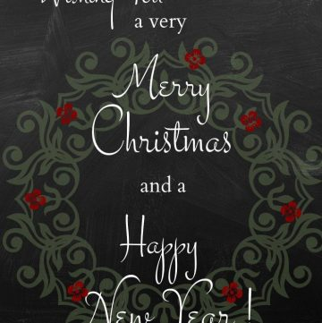 Merry Christmas and Happy New Year sign