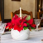 Easy Poinsettia Arrangement for Your Holiday Table