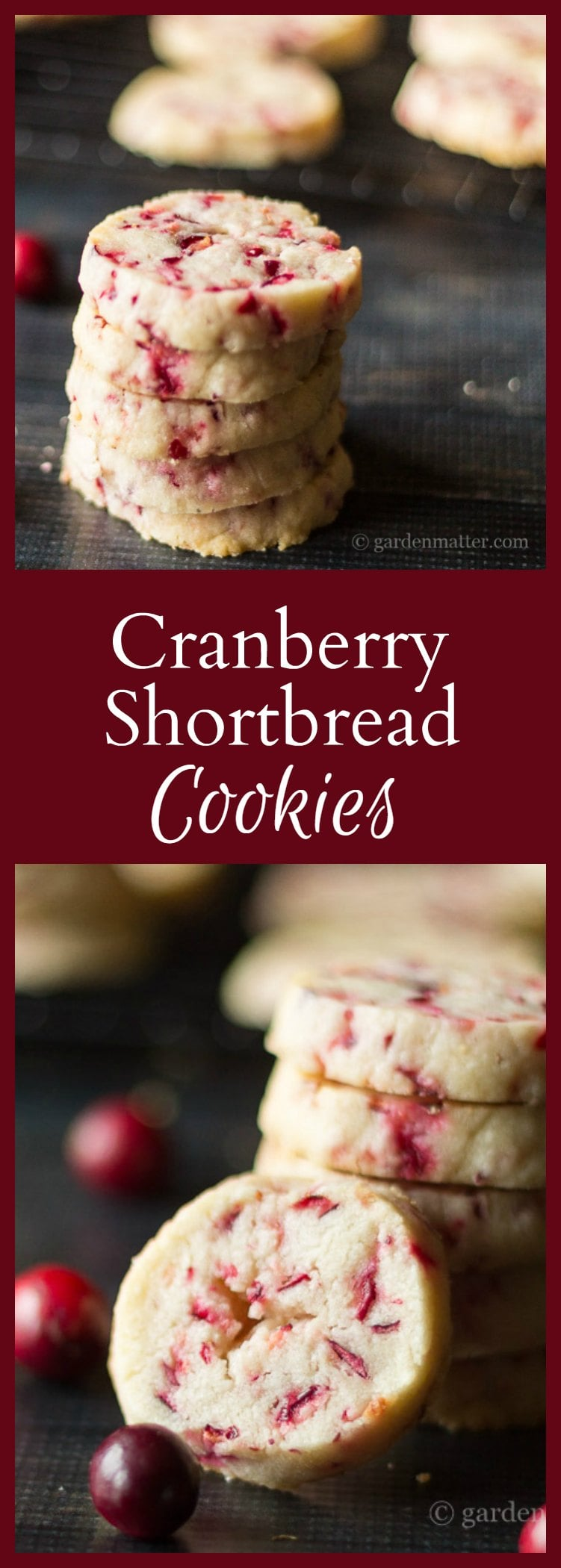 fresh cranberry shortbread cookie recipe