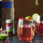 A fun recipe for a Moscow Pom Cocktail.
