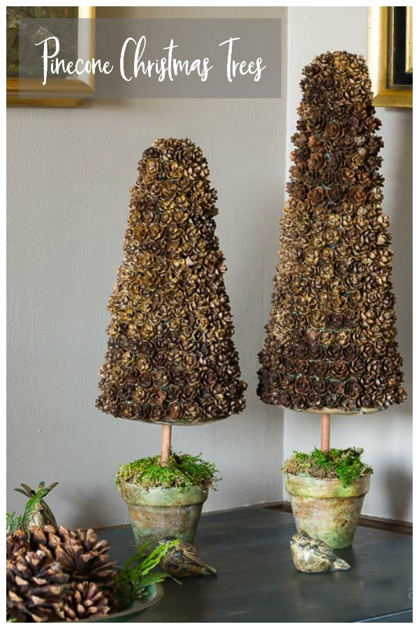 Mini pine cone Christmas trees
