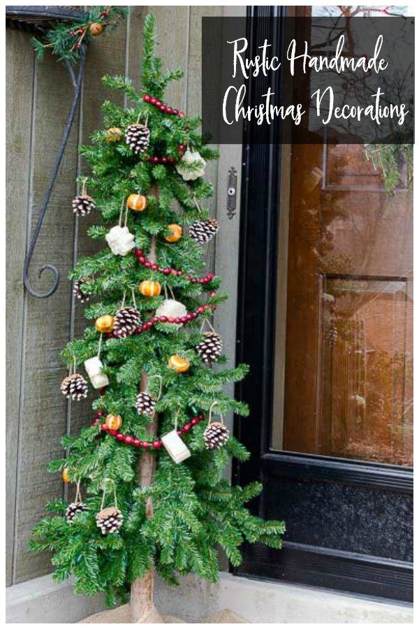 Rustic handmade Christmas decorations