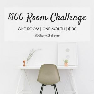 A group of bloggers challenging themselves to makeover one room for $100.