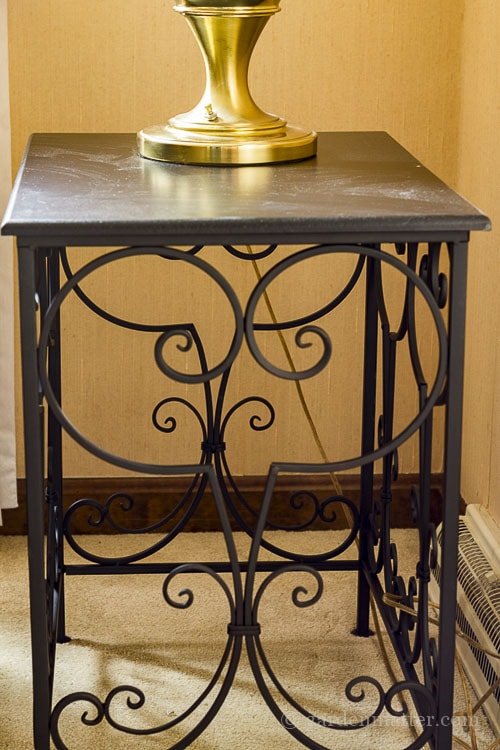 Metal end table for living room.