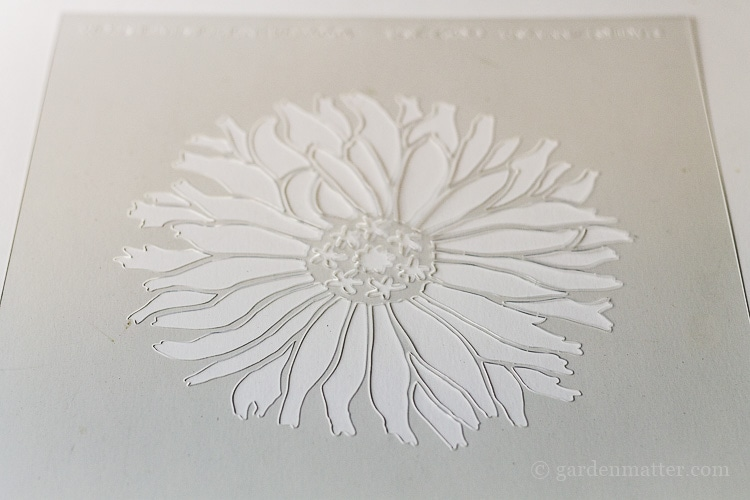 Floral stencil for recycled end table makeover