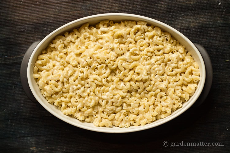A quick way to use up cheese by making this leftover mac & cheese recipe.