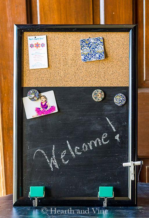 DIY homemade message board