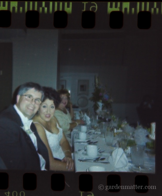 Denise and Rick Wedding picture from a negative.