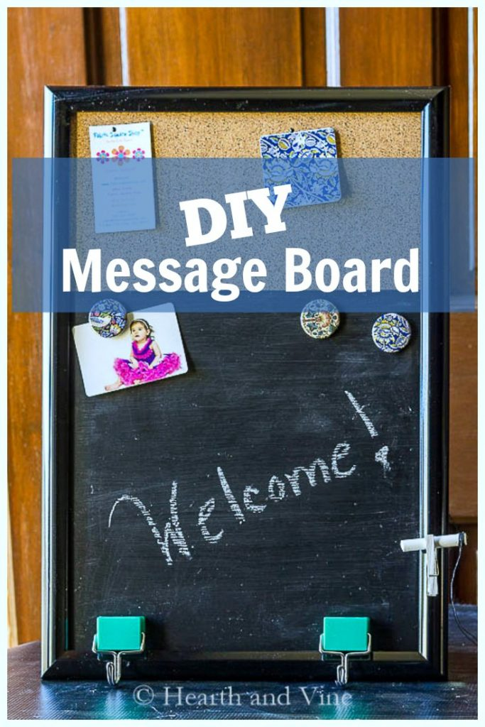 Message board with graphics