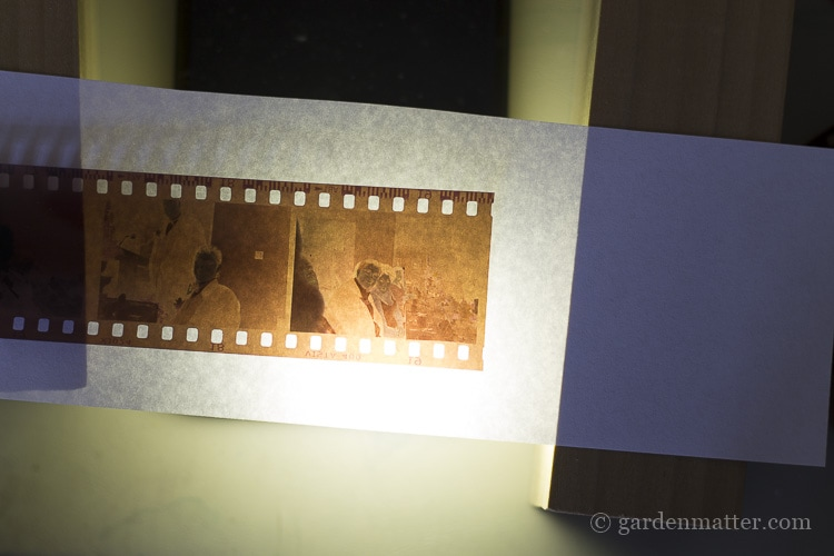 Digitizing negatives with iphone light and blocks