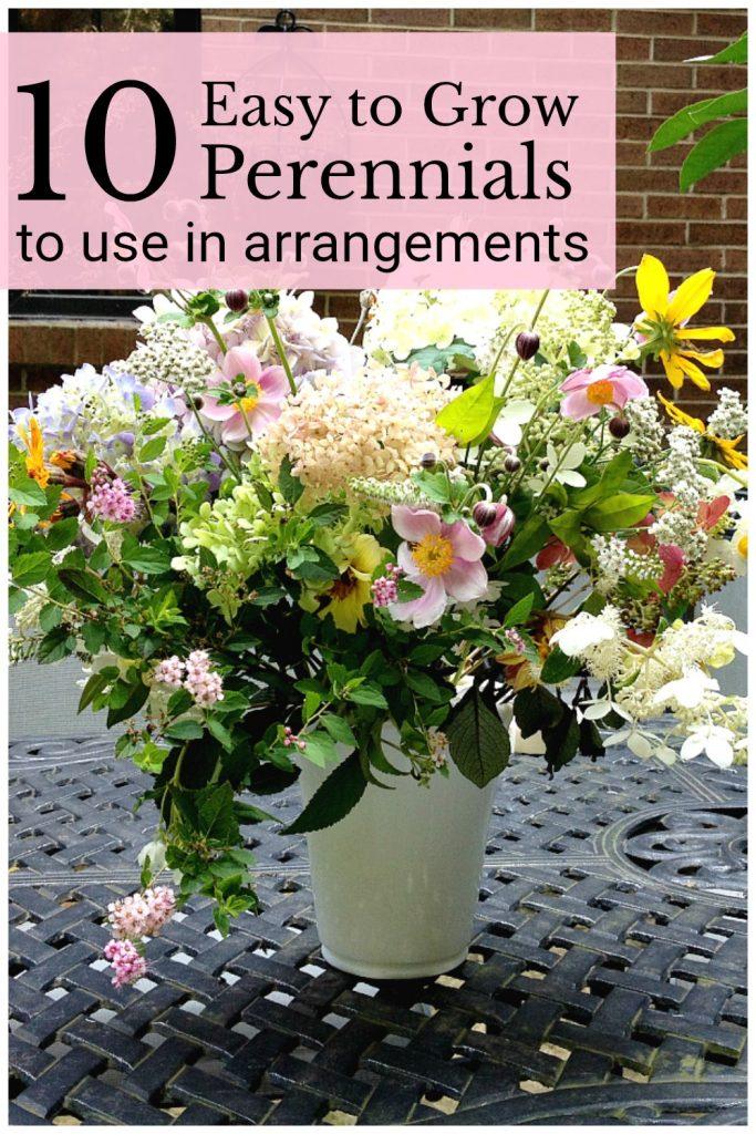 Flower arrangement of garden perennials