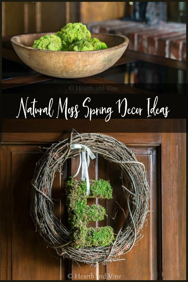 natural moss decor collage