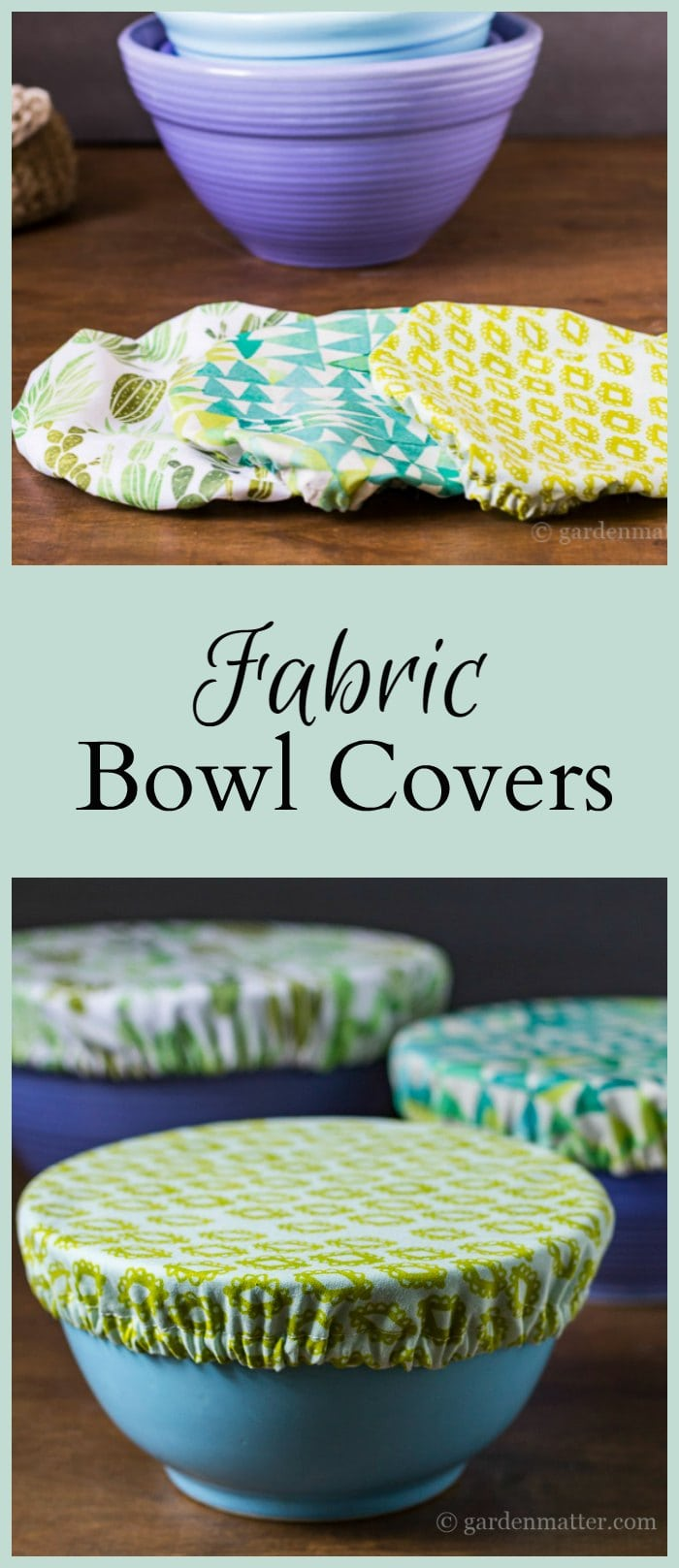 Fabric bowl covers collage