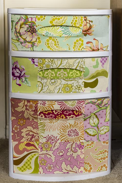 How to Create Beautiful Plastic Drawers with Mod Podge and Fabric