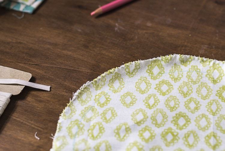 Use an overcast stitch to prevent fraying.