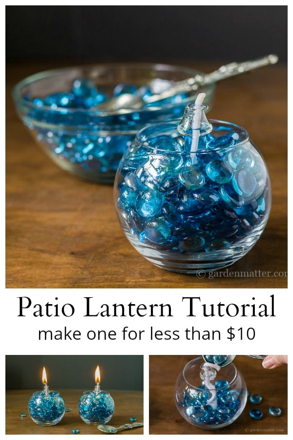 Inexpensive patio lantern tutorial