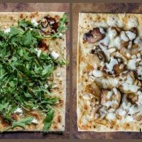 Mushroom, Caramelized Onion, & Fontina Flatbread