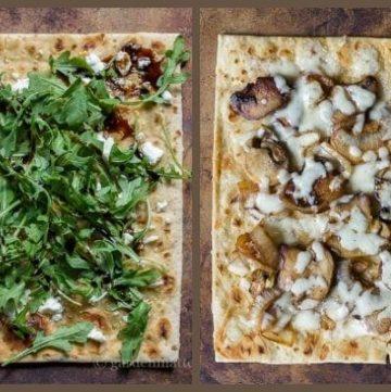 Veggie flatbread pizza recipes.