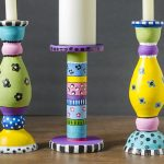 Painting wooden candlesticks adds whimsical look to your decor