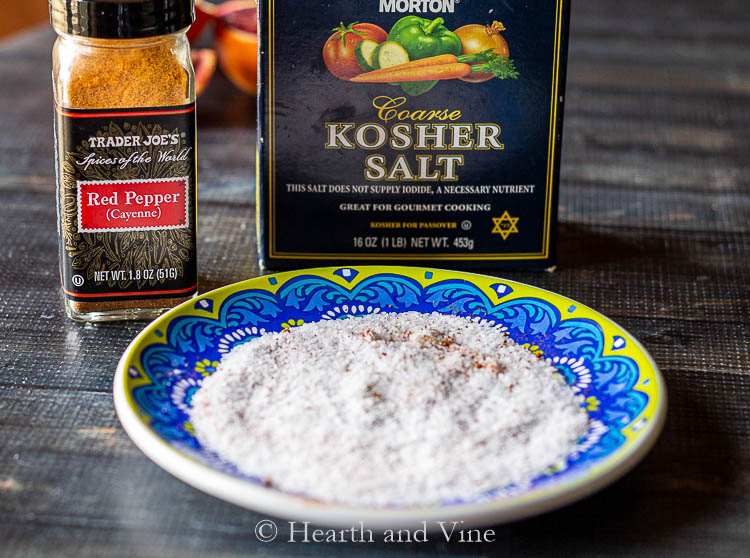 Margarita salt with cayenne pepper