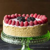 No Bake Berry Cheesecake with No Added Sugar