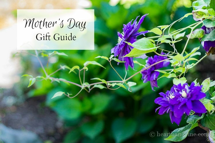 A list of 10 Mother's day gift guide.