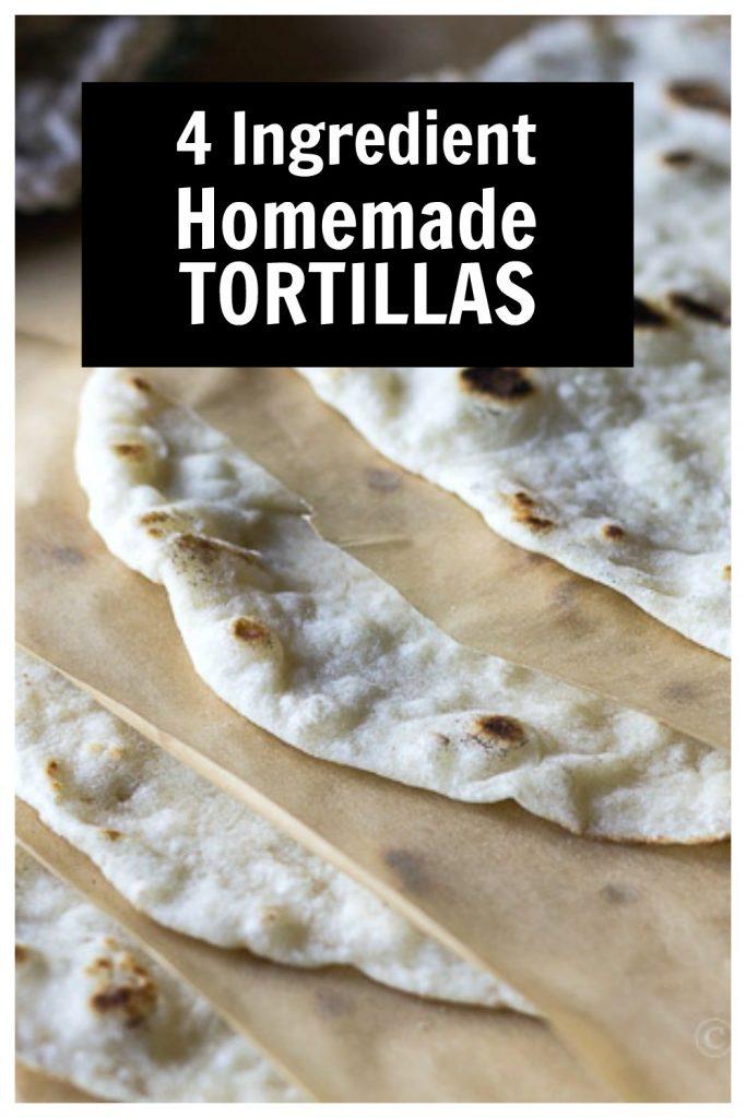 Handmade flour tortillas