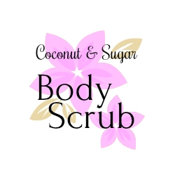 Sugar body scrub round label.