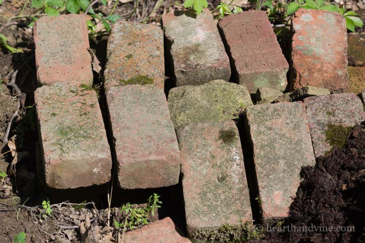 Pile of bricks.