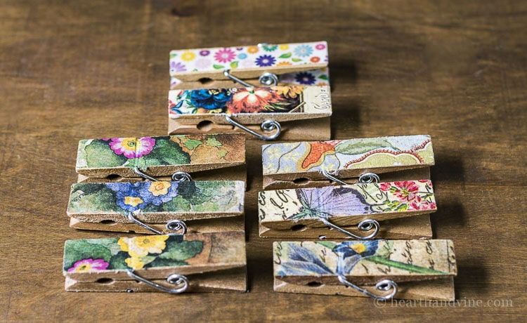 Colorful magnetic clothespins