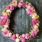How to Make a Dried Peony Wreath