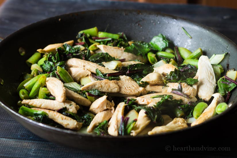 Simple Summer Greens Stir Fry Recipe