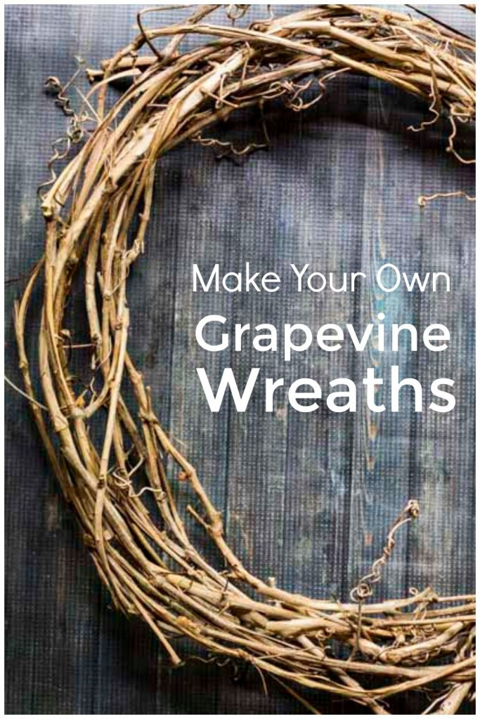 Partial view of a grapevine wreath