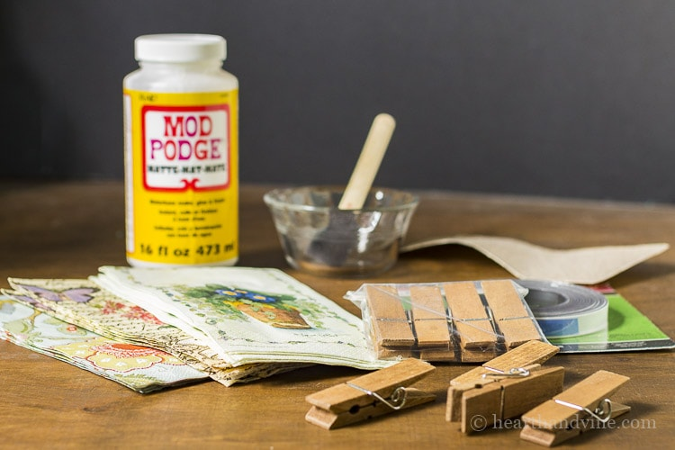 Materials for magnetic clothespins