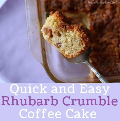 Rhubarb crumble coffee cake