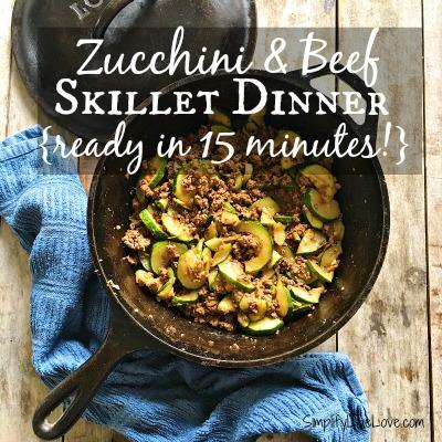 Zucchini and Beef Skillet Dinner