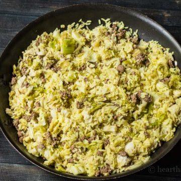 Lebanese stuffed cabbage casserole recipe.