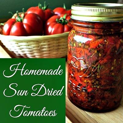 Homemade sun dried tomatoes by Homemade Food Junkie