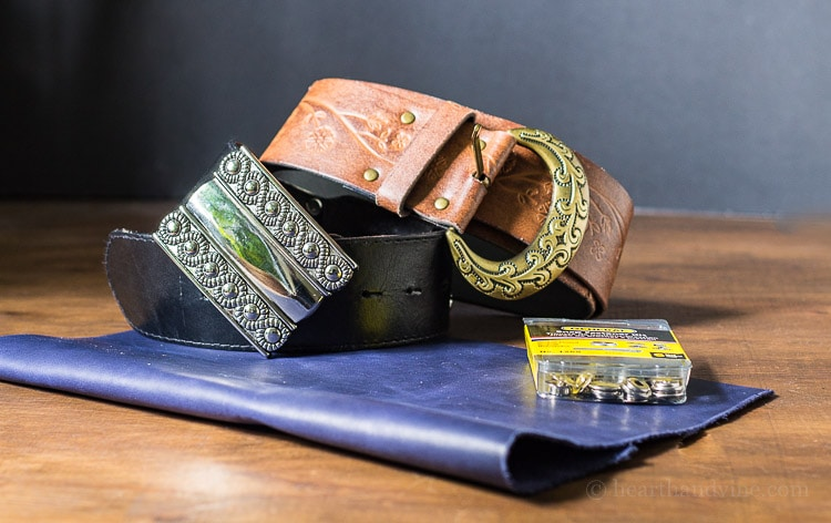 DIY leather bracelets is a fun tutorial that shows you how to make stylish leather cuffs from old belts and pieces of leather, paints and a dremel tool.
