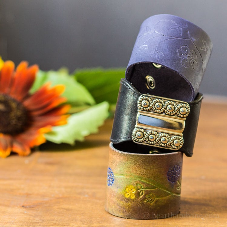 DIY Leather Bracelets - An Easy, Creative Project