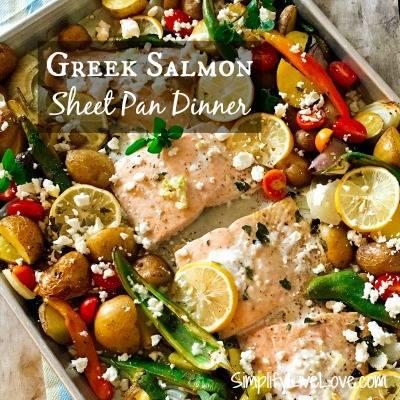 Greek Salmon Sheet Pan Dinner