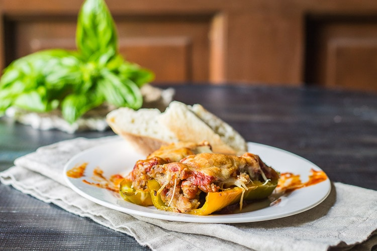 Italian stuffed peppers make a great meal or a delicious party appetizer. This recipe works with many different types of peppers for a dish you will love.